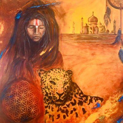 Peinture de l âme La Shamane